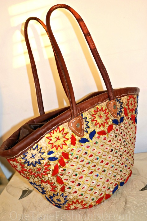 Embroidered Moroccan Beach Basket/Bag- home to my sunscreen and fashion magazines when on the beach