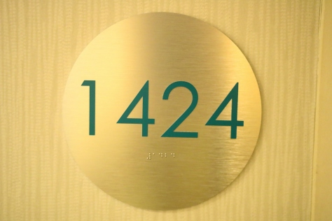 Our suite number 1424. 1424=11=1+1=2 of us