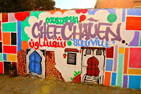 The Blue Town Chefchaouen - in French and Arabic