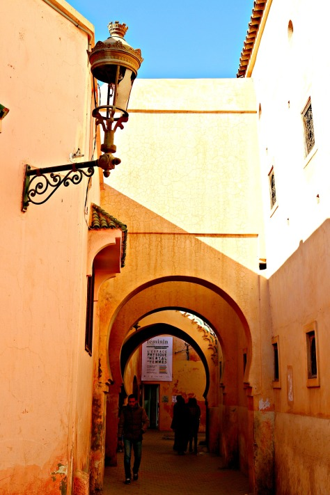 The mysteriously beautiful arches marched with the narrow alleys of the Medina ...on your way to the Madrasah