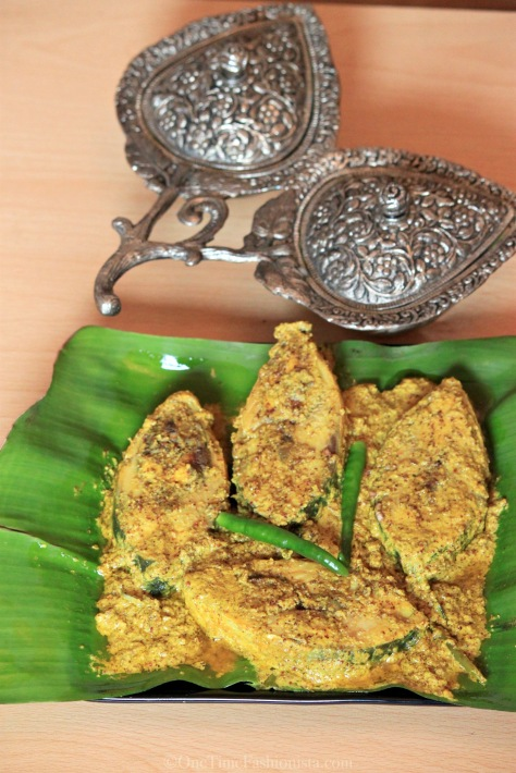 My Maa's authentic recipe of shorshe ilish cooked by me