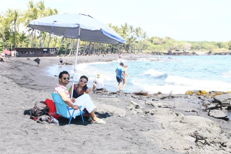 Team OneTimeFashionista on the Black Sand Beach