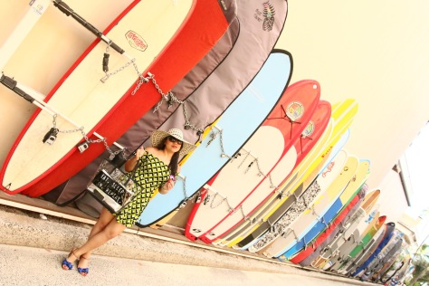 Surfboards & skater dress