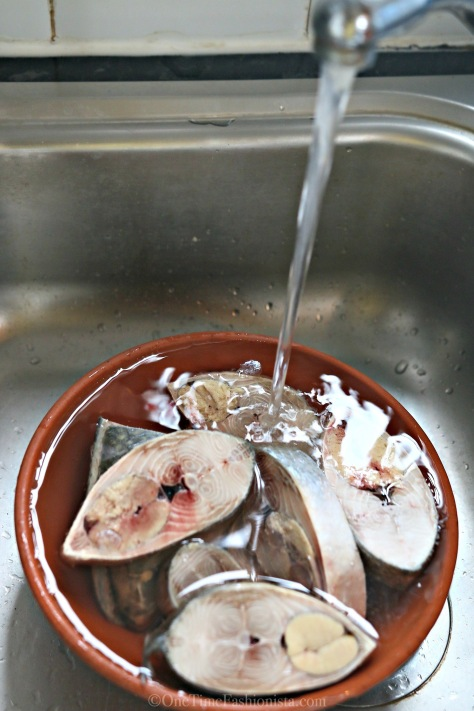 Clean them under running water and then gently descale them making sure that the skin doesn't come off and roe inside stays as it is set