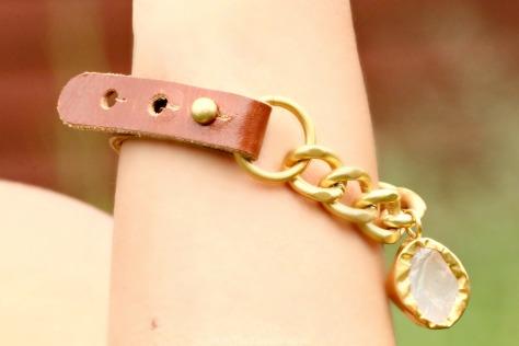 The Gorgeous Slip It On Citrine Gold Bracelet Fluorite