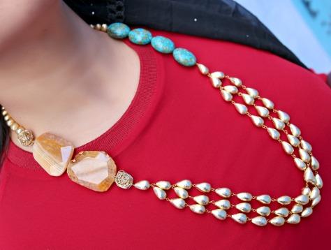 Prerto Chinese Sun necklace