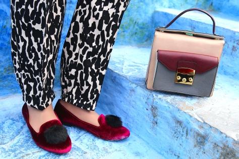 Topshop Pom pom Shoes, Zara Messenger Bag