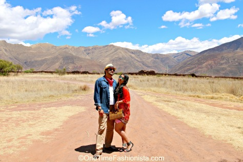 Team OneTimeFashionista in the Sacred Valley, Peru
