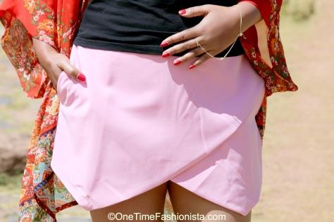 Where a skirt meets a short