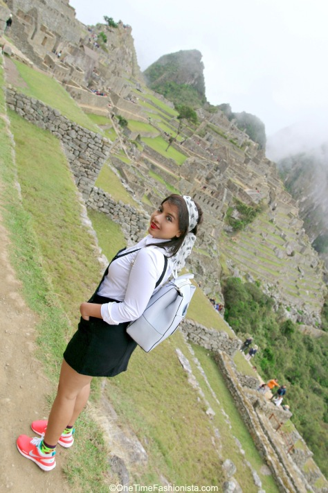 The only time looking behind was worth because you are in front of the magnificent Machu Picchu is