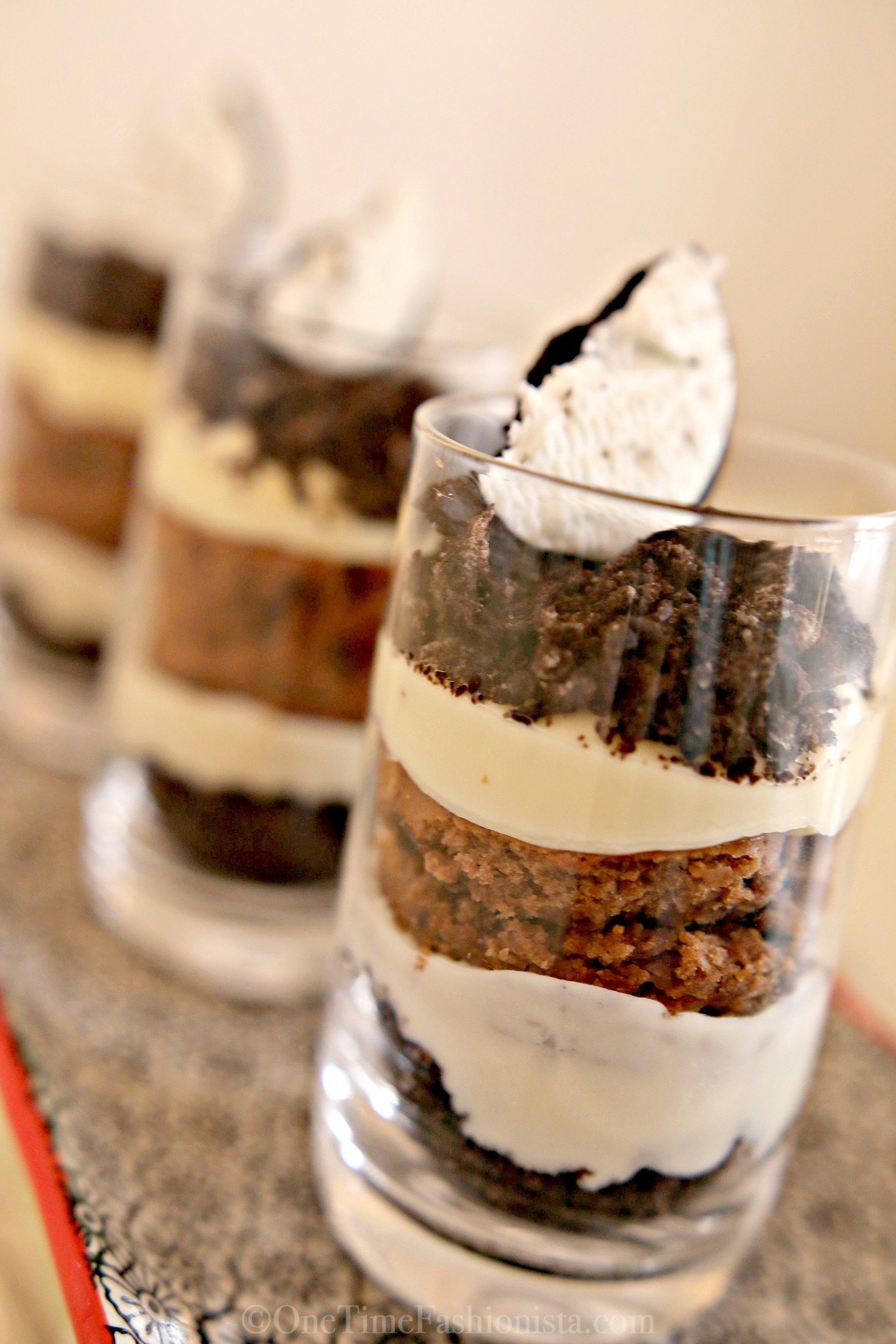 Dessert In A Shot Glass Layered Oreo Cheesecake Chocolate