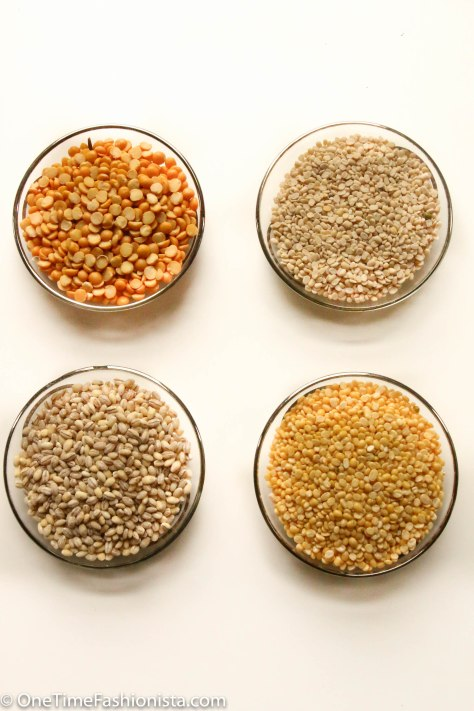Key ingredients: Wheat berries, Mung Dal, Urid Dal, Chana Dal