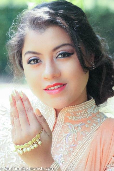 Eid Look: Wearing Malasa's Pearl Embroidered Jacket with Lace Churidaar