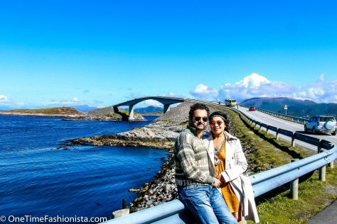 Team OneTimeFashionista in front of the Atlantic Ocean Road
