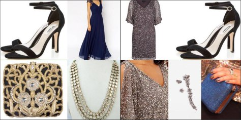 For the lady: A collage of the evening looks for birthday dinner and opera show