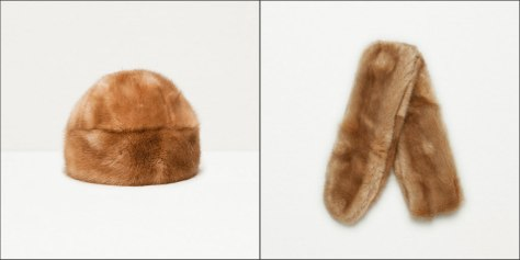 Zara soft furry hat and stole