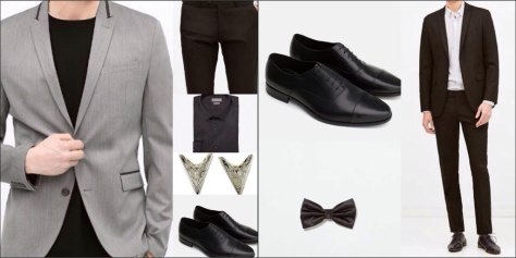 For the gentleman: A collage of the evening looks for birthday dinner and opera show