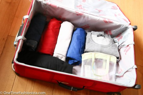 Minimum space, maximum items to pack: roll and fold the heavy pieces like trousers, jeans and jackets to save space in your suitcase