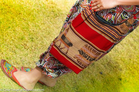 This Peruvian Banjara Style Shoulder Bag pretty much fits all your essentials including one set of sleepwear if you are backpacking