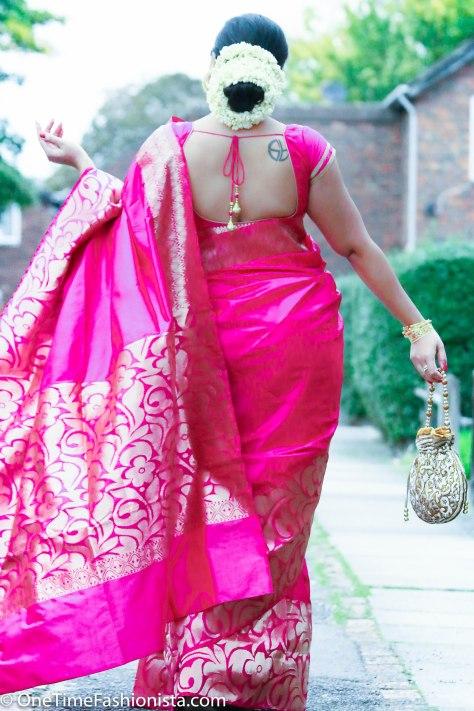 SareeSutra: Durga Puja Look: Wearing Kanjeevaram Silk and Amrapali Jewels