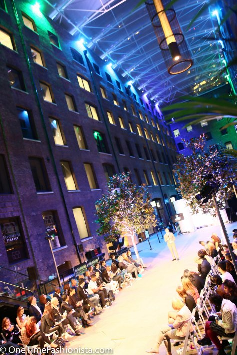 The historic Western Courtyard of Devonshire Square makes one glamorous stage