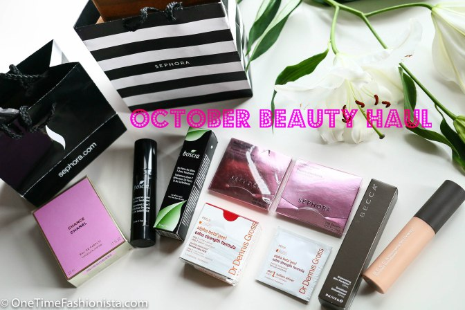 October Beauty Haul: Chanel, Sephora, Boscia and Becca Cosmetics