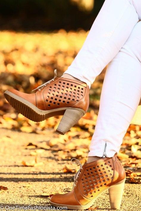Wearing Shoe Embassy brogue in Amber