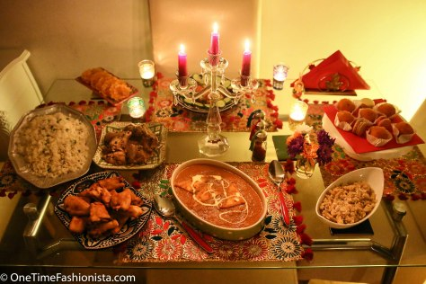 Diwali spread: Conditions apply* You bring a smile, we could share a bit of home cooked Mutter Pulau, Shahi Paneer, Ginger-lemon chicken, Aubergine Fritters and suji ka halwa. Plus we also had some sweet treats stored from the Indian sweet store