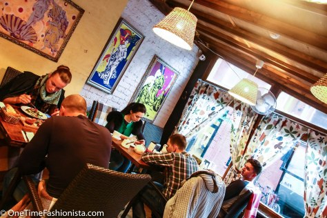 """Dim lights, printed curtains, no flat screens- basically a lack of pretension makes this cafe stick out from its peers on an island that's been dubbed """"Moscow's Brooklyn"""" - and that's a good thing"""