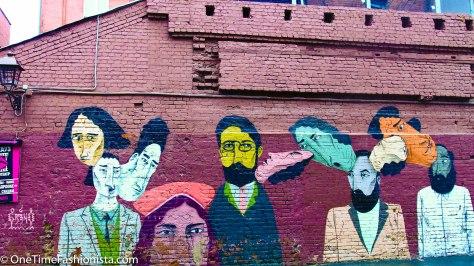 Landmark to take note...Mizandari is located just in front of this street art