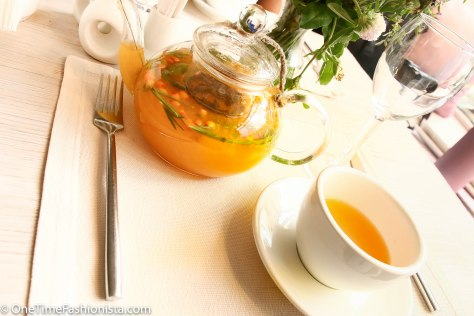 Every menu in restaurants/cafe in Moscow have something called homemade tea; we tried sea buckthorn and honey tea here
