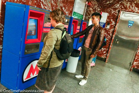 One can buy tickets from these self-service machines , if you don't speak Russian and travelling for the first time, don't even dare to try this!