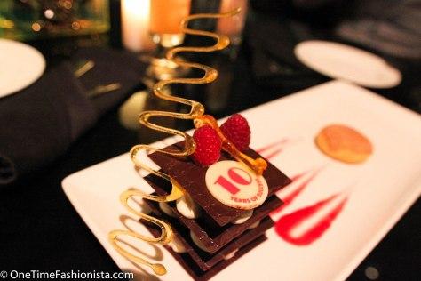 A dessert marking their 10th anniversary