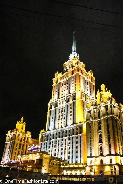 Radisson Royal Moscow at night