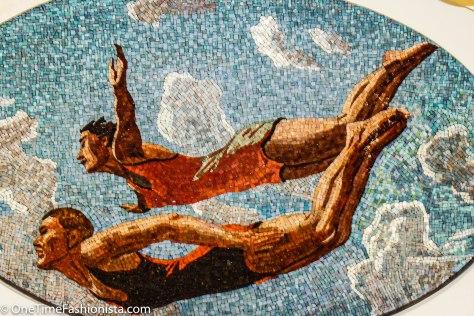 Mosaic art on the wall at Kievskaya Metro Station