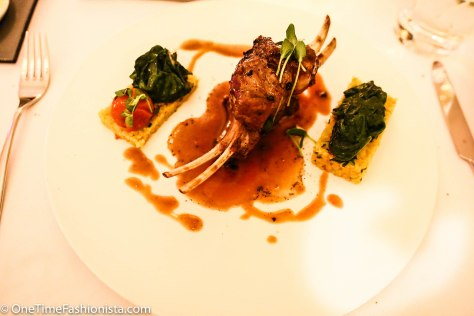 Shehzaad ordered this as main course: Lamb shank on a bed of yellow rice served with spinach, all in french style