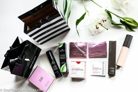 Sephora, Chanel, Boscia, Becca Cosmetics and Dr. Dennis Gross