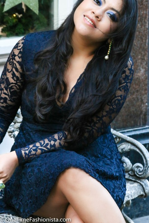Office Christmas Party Look: Lace & Glitter-Up
