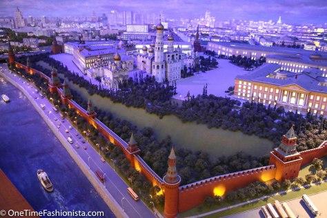 Bird's eye View of Kremlin at night
