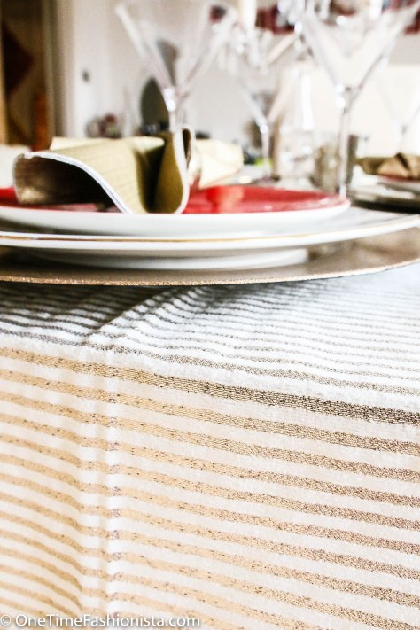 Tanusree's DIY table cloth (leave a comment below if you want to know how she made this table cloth all by herself)