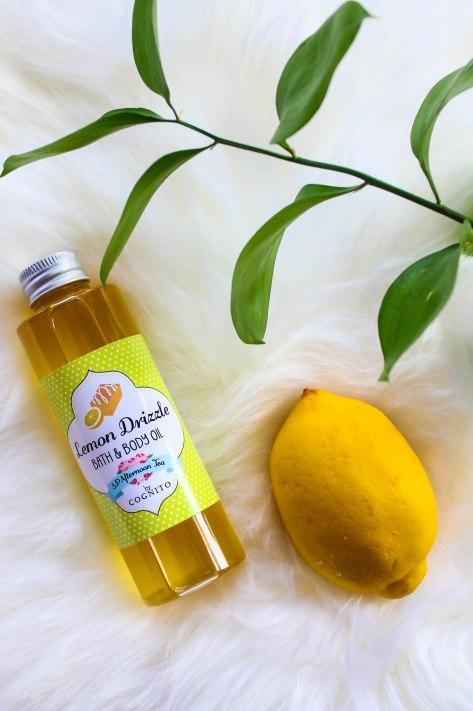 Cognito Skincare's Lemon Drizzle Bath & Body Oil