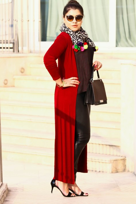 Floor Length Lace Cardigan >> Egypt Lookbook: Long Cape Cardigan | Onetimefashionista
