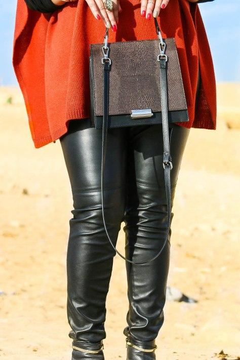 All Saints leather pants