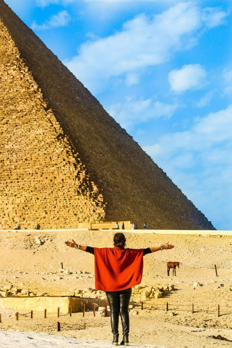 Egypt Lookbook: Chunky Knit Poncho
