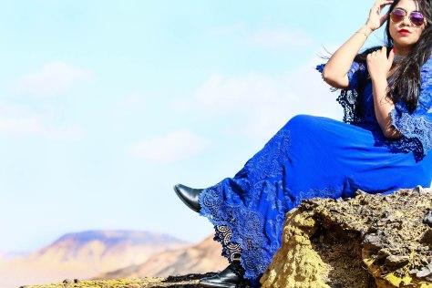 Egypt Lookbook: Blue-tiful Lace Dress