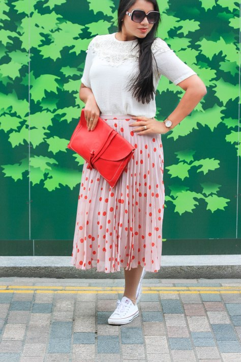 Spring Trends: Fluorescent red & Polka Dot