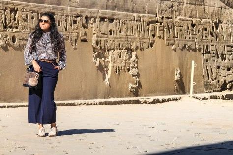 Egypt Lookbook: Zara Pussy Bow Blouse + Zara Tailored Culottes