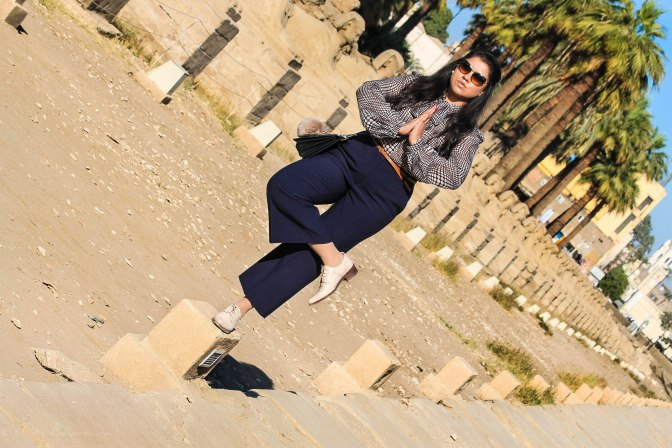 Egypt Lookbook: Pussy Bow Blouse + Tailored Culottes