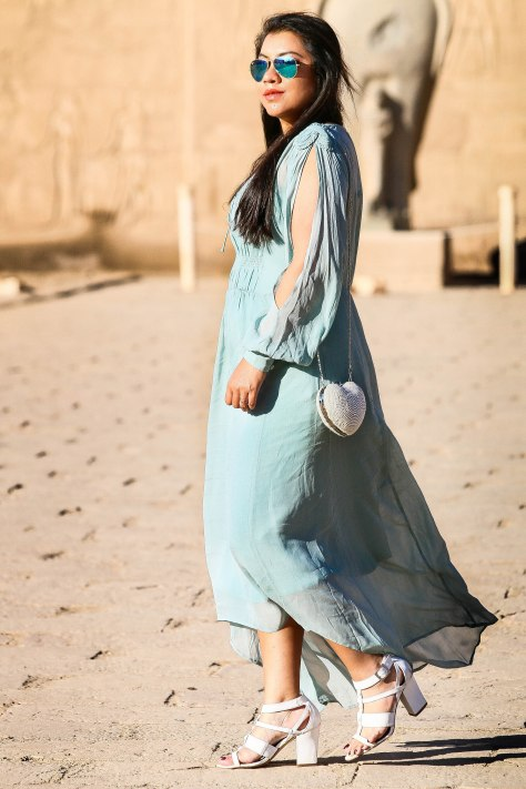 Egypt Lookbook: Blouson Sleeve Hi-Low Dress