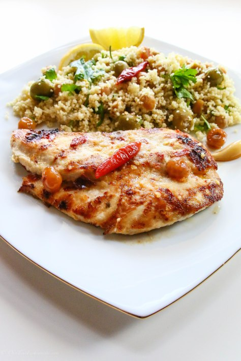 Griddled Lemon Chicken With Fruity Couscous Salad